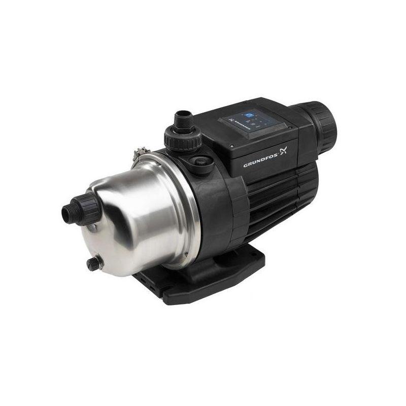 Насосная станция Grundfos MQ 3-45Насосная станция Grundfos MQ 3-45<br><br>Станция автоматического водоснабжения бытового назначения.<br><br>НАЗНАЧЕНИЕ:<br><br>Повышение давления, подача воды (дождевая, питьевая).<br><br>ПРЕИМУЩЕСТВА:<br><br>Высокая производительность (двигатель 1000 Вт);<br><br>Долговечность (материал корпуса &amp;ndash; нержавеющая сталь; самовсасывающий модуль; водяное охлаждение защищает двигатель от перегрева; защита от пыли, брызг, включения без воды; моментальное отключение двигателя при заклинивании, перегреве и пр.);<br><br>Универсальность (возможно применять в частных домах, на дачах, фермах и пр.);<br><br>Безопасность (нагревостойкость &amp;ndash; 1300);<br><br>Удобство в использовании (небольшой вес для моделей данного класса &amp;ndash; 13 кг; компактные габариты; датчики давления, расхода; жидкокристаллический дисплей; обратный клапан; мембранный бак).<br><br>РЕКОМЕНДАЦИИ:<br><br>Общие рекомендации:<br><br>Применять в отдалении от взрывчатых и легковоспламеняющихся веществ и предметов (открытые емкости с бензином, аэрозоли, газовые баллоны, опилки, бумага и т.д.);<br><br>Не рекомендуется использовать в присутствии детей и животных.<br><br>Рекомендации по хранению:<br><br>Хранить с отсоединенной от розетки сетевой вилки в сухом помещении, без доступа для детей, животных, посторонних лиц;<br><br>Беречь от резкого перепада температур, нагревания от внешних источников тепла. При переходе из холодного помещения в тёплое, дать насосной станции время принять температуру окружающей среды.<br><br>МЕРЫ ПРЕДОСТОРОЖНОСТИ:<br><br>Не отключать предохранитель и защитные устройства;<br><br>Следить за износом сетевого кабеля;<br><br>Осмотр и замену оснастки производить только в перчатках при отключенном от сети приспособлении.<br>Вид: Поверхностная; Применение: Водоснабжение; Применение: Поддержание давления в системе водоснабжения; Рабочая среда: Чистая вода; Производительность: 3 м?/час; Глубина всасывания: 8 м; Высота подъема воды: 45 м; Минимальная 