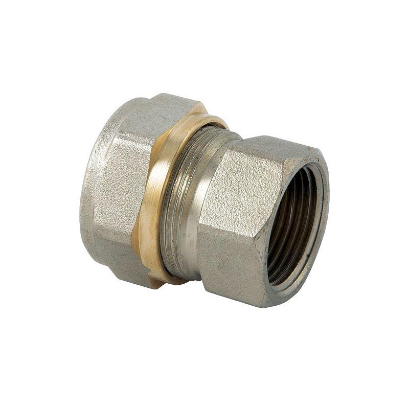 Муфта переходная (обжим) 20х1/2 ВР AltstreamМП Муфта переходная ВР 20х1/2 (обжим) Altstream<br><br>Латунная муфта-переходник для труб из металлопластика. Производит компания Altstream. Одно отверстие имеет диаметр в 20 мм и внутреннюю резьбу с сечением &amp;frac12; мм. Соединение обжимного типа.<br><br>НАЗНАЧЕНИЕ:<br><br>Переход с трубы из металлопластика с диаметром 20 мм на системы канализации, санузел и отопление через соединение с внутренней резьбой в &amp;frac12; дюйма.<br><br>ПРЕИМУЩЕСТВА:<br><br>Обжимные соединение &amp;ndash; самые простые. Можно справиться обычным гаечным ключом, без специализированных навыков и инструментов.<br><br>Фитинги, производимые Altstream методом горячей штамповки прочны, долговечные и устойчивы к коррозии, высоким температурам, повреждениям и перепаду давления в системах канализации, водоснабжения и отопления.<br><br>РЕКОМЕНДАЦИИ:<br><br>Рекомендуется совместное использовании в водоснабжении и отопительных системах труб и фитингов Altstream, поскольку с трубами, производимыми другой компанией, могут быть сложности по части ремонта и обслуживания. Причина &amp;ndash; различные условия эксплуатации и технические характеристики.<br>Диаметр: 20 мм; Диаметр резьбы: 1/2 ; Тип резьбы: ВР; Тип монтажа: Обжим (цанга)/резьба; Максимальная температура рабочей среды: + 120 °С; Материал: Латунь; Совместимость: Для МП трубопроводов Altstream; Бренд: Altstream; Страна производитель: Италия;