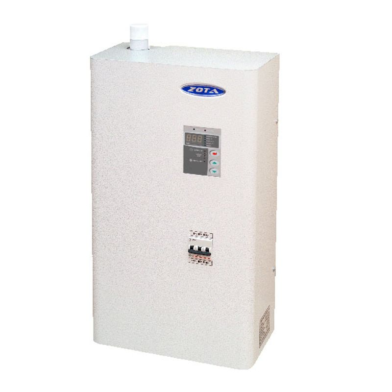 Котел электрический Zota 6 LuxЭлектрический котел отопления ZOTA Lux 6 кВт (2-4-6 кВт/220 В)<br><br>Настенный электрический&amp;nbsp;одноконтурный&amp;nbsp;отопительный котел номинальной тепловой мощностью 2,0-6,0 кВт, со встроенным пультом управления, двумя датчиками температуры воздуха, датчиками перегрева и уровня воды, предохранителем, защитным кожухом, кронштейном и шурупами для крепления, для использования в автономных системах отопления или горячего водоснабжения с давлением не более 0,6 МПа в жилых и хозяйственно-бытовых помещениях площадью до 60 кв.м.<br><br>НАЗНАЧЕНИЕ:<br><br>Автономное теплоснабжение жилых и хозяйственно-бытовых помещений площадью до 60 кв. м.;<br>Горячее водоснабжение;<br>Нагрев воды для технических целей (в системах водных подогреваемых полов);<br>Использование в системах с естественной и насосной циркуляцией теплоносителя.<br><br>ПРЕИМУЩЕСТВА:<br><br>Многофункциональность: может использоваться для отопления, обеспечения горячего водоснабжения, а также в системах подогреваемых водных полов;<br>Удобная эксплуатация:<br>- встроенная панель управления,<br>- легкий доступ к блоку&amp;nbsp;ТЭНов, которые можно быстро заменить с помощью обычного ключа;<br>- звуковой сигнал аварийного режима,<br>- сохранение индивидуальных настроек в меню,<br>- самовозвратные&amp;nbsp;аварийные блокировки (при устранении неисправности котел продолжает работать по заранее заданным настройкам);<br>Экономичное потребление энергии благодаря интеллектуальной системе управления мощностью:<br>- трехступенчатая регулировка мощности 2,0/4,0/6,0 кВт,<br>- поддержание минимальной безопасной температуры,<br>- регулировка работы насоса,<br>- погодозависимое&amp;nbsp;регулирование,<br>- встроенный термостат с часами реального времени с возможностью подключения&amp;nbsp;двухтарифного&amp;nbsp;счетчика;<br>Возможность установки модуля &amp;laquo;GSM Lux&amp;raquo; (доп. принадлежность) для управления котлом с мобильного телефона (через систему коротких сообщений) для:<br>- ко