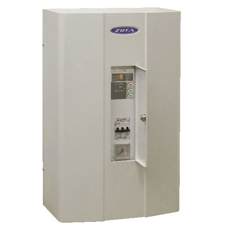 Котел электрический Zota 6 MKЭлектрический котел отопления ZOTA MK 6кВт (2-4-6 кВт/220 В)<br><br>Настенная электрическая&amp;nbsp;мини-котельная&amp;nbsp;номинальной тепловой мощностью 2-6 кВт, со встроенным расширительным баком объемом 12 литров,<br><br>циркуляционным насосом, блоком управления, двумя датчиками температуры воздуха, фильтром грубой очистки, датчиками перегрева и уровня воды,<br><br>воздухоотводчиком, предохранителем, защитным кожухом, кронштейном и шурупами для крепления, для использования в автономных системах отопления<br><br>с давлением не более 0,3 МПа в жилых и хозяйственно-бытовых помещениях площадью до 60 кв.м.<br><br>НАЗНАЧЕНИЕ:<br><br>Автономное теплоснабжение жилых и хозяйственно-бытовых помещений площадью до 60 кв. м.;<br>Нагрев воды для технических целей (в системах водных подогреваемых полов).<br><br>ПРЕИМУЩЕСТВА:<br><br>Формат&amp;nbsp;мини-котельная: имеет в комплекте все необходимые составляющие автономной системы отопления (расширительный бак, циркуляционный насос, предохранительный клапан, манометр, блок безопасности);<br>Удобная эксплуатация:<br>- встроенная панель управления,<br>- блокировка панели управления от случайного изменения заданных параметров;<br>- звуковой сигнал аварийного режима,<br>- индикация температуры воды в системе, температуры воздуха внутри и снаружи помещения, аварийного режима, режима работы насоса, состояния термостата, ступеней&amp;nbsp;&amp;nbsp;мощности,<br>-самовозвратные&amp;nbsp;аварийные блокировки (при устранении неисправности котел продолжает работать по заранее заданным настройкам);<br>Экономичное потребление энергии благодаря интеллектуальной системе управления мощностью:<br>- трехступенчатая регулировка мощности 2/4/6 кВт,<br>- регулировка работы насоса,<br>- погодозависимое&amp;nbsp;регулирование,<br>- встроенный термостат с часами реального времени с возможностью подключения&amp;nbsp;двухтарифного&amp;nbsp;счетчика;<br>Возможность установки модуля &amp;laquo;GSM Lux&amp;raquo; (доп. принадлеж