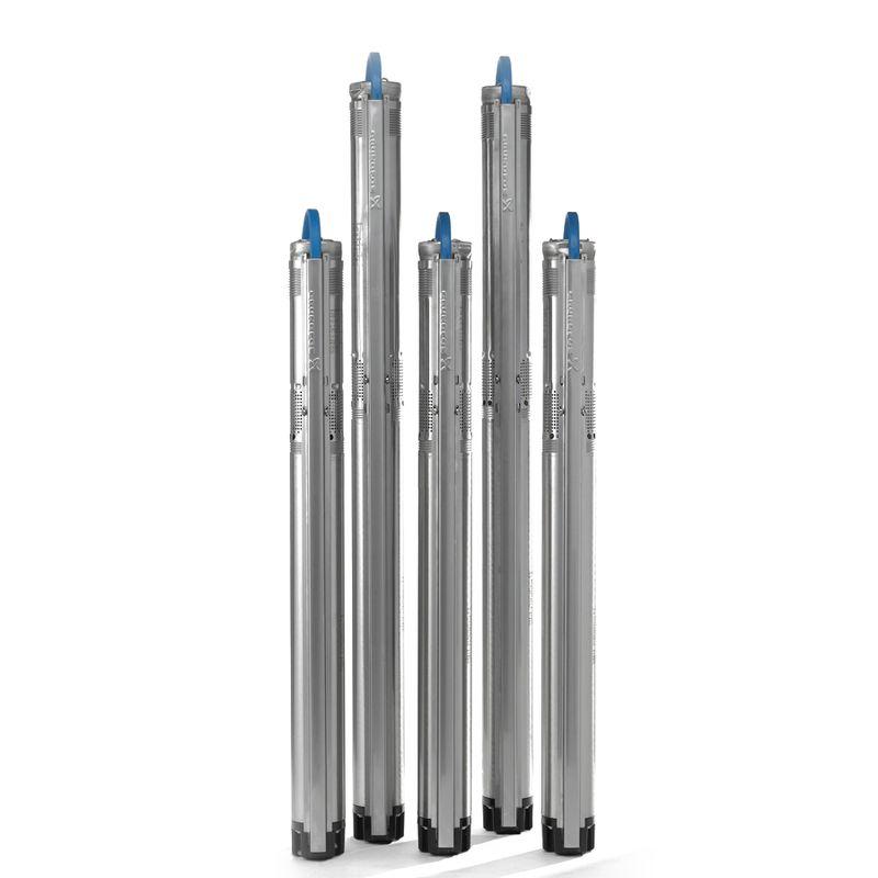 Скважинный насос Grundfos SQ 2-55 (96510199)<br>Вид: Погружной; Тип: Скваженный; Рабочая среда: Чистая вода; Допустимое содержание частиц: 50 г/м?; Производительность: Q max 2 м?/час; Высота подъема воды: 68 м; Минимальная температура воды: 0 С°; Максимальная температура воды: + 35 °С; Мощность: 700 Вт; Напряжение: 1х230в В; Высота: 745 мм; Диаметр насоса: 74 ; Присоединительный диаметр: 11/4 ; Длина кабеля: 1,5 м; Материал корпуса: Нержавеющая сталь; Степень защиты: 68; Класс изоляции: B; Бренд: Grundfos; Страна производитель: Дания; Модель: Sq2-55; Гарантия: 2 года;