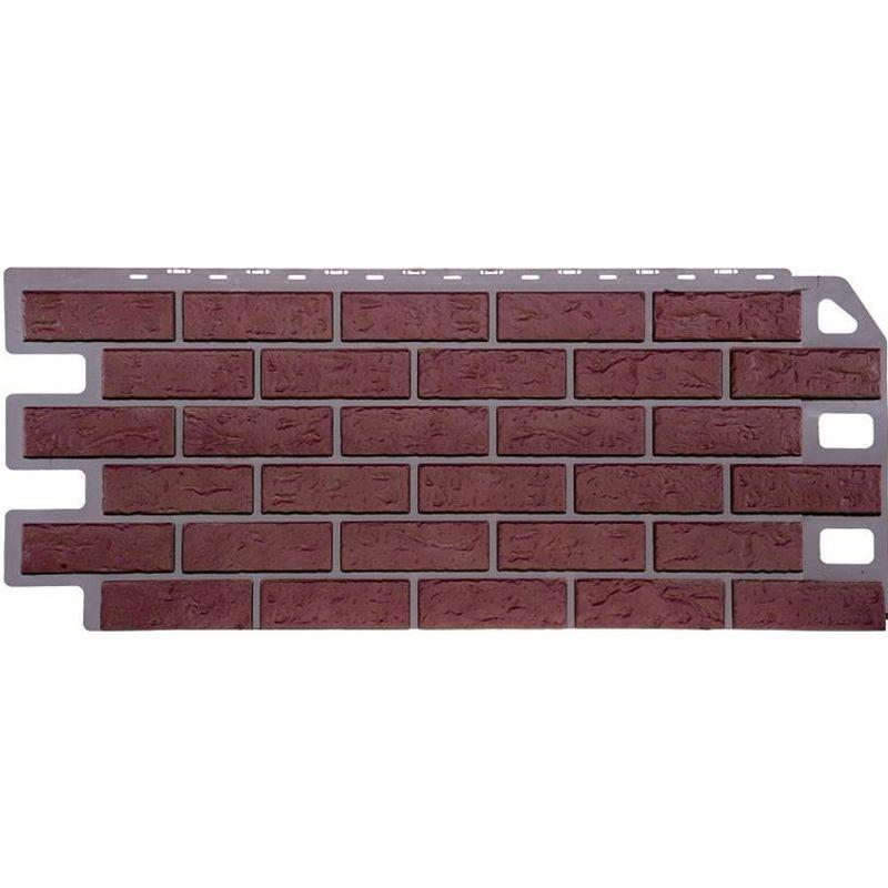 Панель фасадная FineBer Кирпич красный 1135х470ммСайдинг FineBer экологически чистый строительный материал,<br>предназначенный для наружной отделки жилых, производственных зданий. Он<br>имеет длительный срок службы (50 лет), устойчив к высокой влажности,<br>перепадам температур от +50° до -50°C, воздействию солнечных лучей.<br><br><br><br><br><br><br><br><br><br><br>Бренд: FineBer; Коллекция: Кирпич;