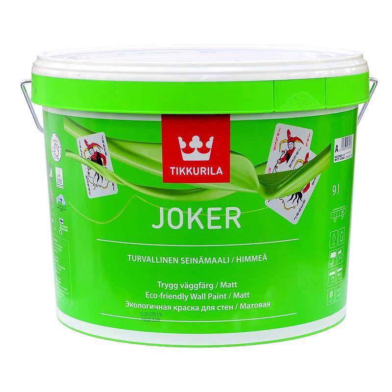 Купить Краска латексная Tikkurila Joker матовая, база А, 9л, Белый