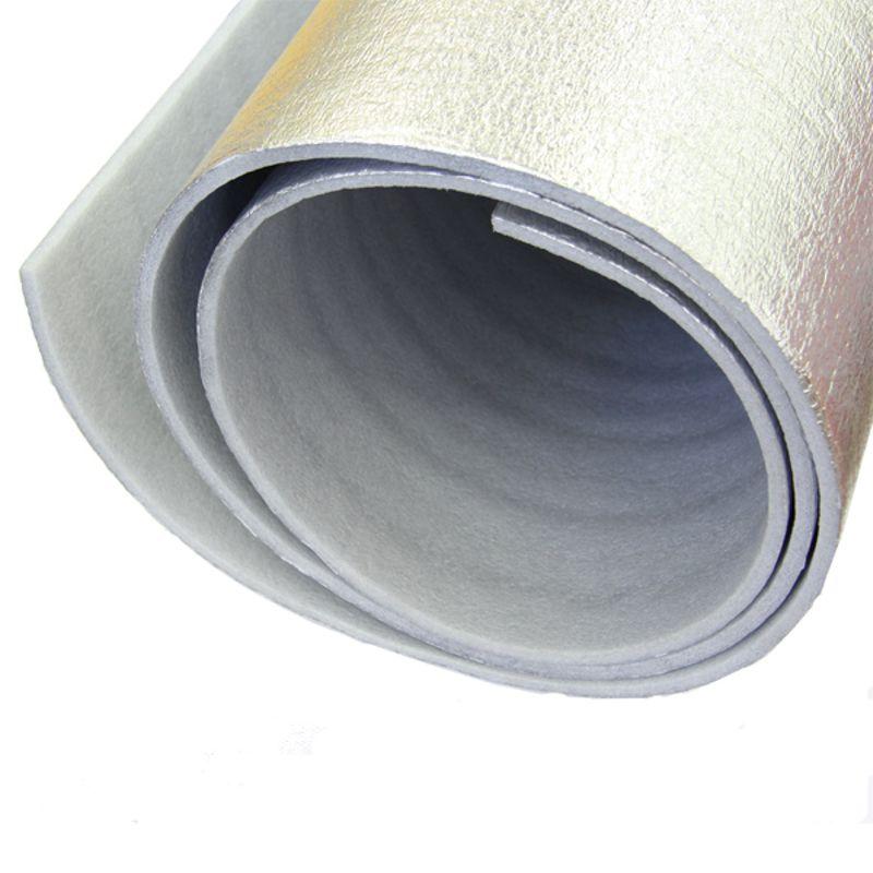 Пенотерм для бань и саун НПП ЛФ 1,2х25мх3мм, серыйПенотерм&amp;nbsp;для бань и саун НПП ЛФ 1,2х25мх3мм, серый<br><br>Специальная фольгированная&amp;nbsp;&amp;nbsp;изоляция на полимерной основе для саун и бань, с улучшенными теплоизоляционными и пароизоляционными свойствами.<br><br>Рулон с толщиной 3мм.<br><br>НАЗНАЧЕНИЕ:<br><br>Теплоизоляция бань и саун из деревянного бруса толщиной от 15см до 20 мм;<br>Применяется для создания тепла в зданиях из кирпича и камня;<br>Утепление кровли чердаков и мансард.<br><br>ПРЕИМУЩЕСТВА:<br><br>Экологичность (в составе минеральные волокна);<br>Удобство монтажа (рулонный материал, легко режется обычным строительным ножом, крепится к основанию при помощи&amp;nbsp;степлера, легкий для транспортировки);<br>Фольгированный материал&amp;nbsp;(хорошо &amp;laquo;держит&amp;raquo; тепло при нагревании металлизированной поверхности до 170*С не потеряв своих механических свойств, отражает тепло от разогретой плитки, за счет фольги основа теплоизоляции не размягчается и не прилипает, не накапливает запахи;<br>Не впитывает влагу &amp;ndash; минимизирует развитие грибка и плесени;<br>Паронепроницаем, испарение в стенах парилки не образуется;<br>Теплоизоляция на 25% выше, чем при использовании обычного теплоизоляционного материала;<br>Экономичность (баня нагревается на 30-40 минут быстрее, снижаются энергозатраты);<br>Долговечность (срок службы 50 лет).<br><br>РЕКОМЕНДАЦИИ:<br><br>Крепить на деревянную обрешетку внахлест металлическими скобами или тонкими гвоздями;<br>Места нахлеста, гвоздей или скоб необходимо проклеивать скотчем;<br>При монтаже необходимо соблюдать осторожность &amp;ndash; не повредить токую металлизированную поверхность (в случае повреждения заклеить скотчем);<br>Финишная отделка деревянной вагонкой&amp;nbsp;&amp;nbsp;с шагом 50-60 см;<br>При монтаже необходимо оставлять вентиляционный зазор между изоляцией и стеной.<br><br>МЕРЫ ПРЕДОСТОРОЖНОСТИ:<br><br>Не использовать для детских игр.<br>Название: НПП ЛФ; Бренд: Пенотерм; Мат