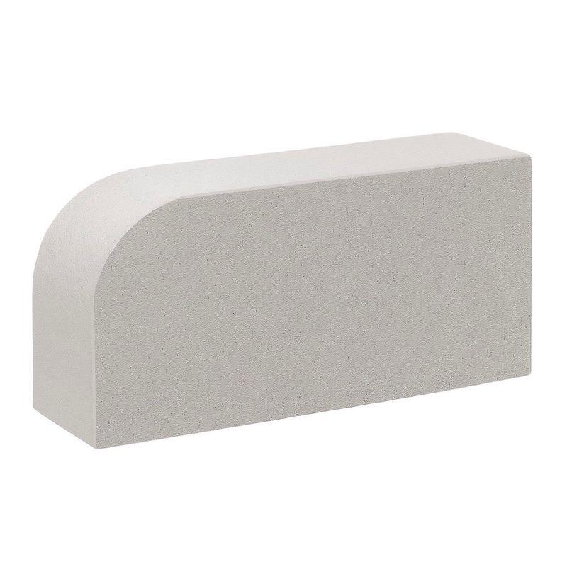 Кирпич облицовочный одинарный полнотелый М-300, Белый радиусный, КС-Керамик