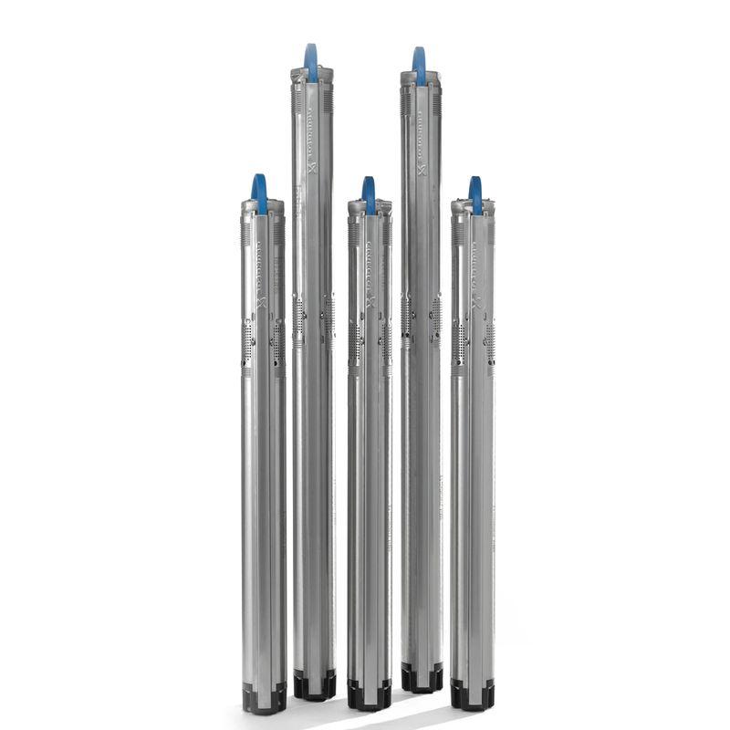 Скважинный насос Grundfos SQ 2-85 с кабелем (96524444)<br>Вид: Погружной; Тип: Скваженный; Рабочая среда: Чистая вода; Допустимое содержание частиц: 50 г/м?; Производительность: Q max 2 м?/час; Высота подъема воды: 109 м; Минимальная температура воды: 0 С°; Максимальная температура воды: + 35 °С; Мощность: 1150 Вт; Напряжение: 1х230в В; Высота: 862 мм; Диаметр насоса: 74 ; Вес: 6.2 кг; Присоединительный диаметр: 11/4 ; Длина кабеля: 1,5 м; Материал корпуса: Нержавеющая сталь; Степень защиты: 68; Класс изоляции: B; Бренд: Grundfos; Страна производитель: Дания; Модель: Sq2-85; Гарантия: 2 года;