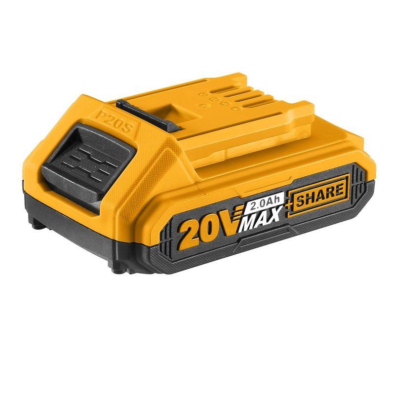 Аккумулятор INGCO FBLI2001, 20В, Li-Ion, 2Ah, индикатор заряда