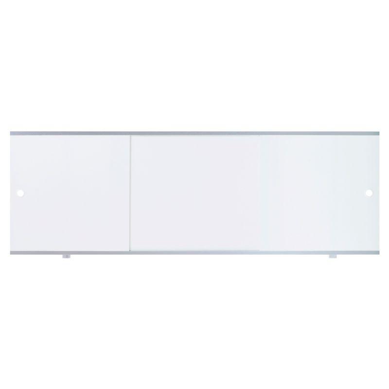 Экран д/ванны раздвижной белый 1,5м