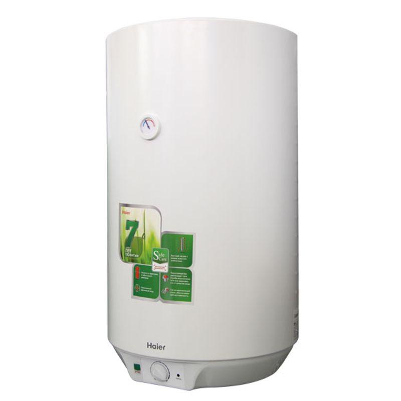 Водонагреватель электрический накопительный Haier ES80V-D1(R)<br>Объем: 80 л; Тип установки: Вертикальный; Вид водонагревателя: Круглый; Комплектация: С кронштейном; Комплектация: С кабелем; Способ установки: Настенный; Мощность: 2 КВт; Напряжение: 220 В; Тип бака: Эмалированная сталь; Максимальный нагрев: 75 С; Время нагрева стандарт режим: 125 мин; Присоединительный диаметр:  1/2; Модель: Es d1 r; Габариты: 843*472*495 мм; Вес: 32 кг; Страна производитель: Китай; Гарантия: 7 лет; Бренд: Haier;