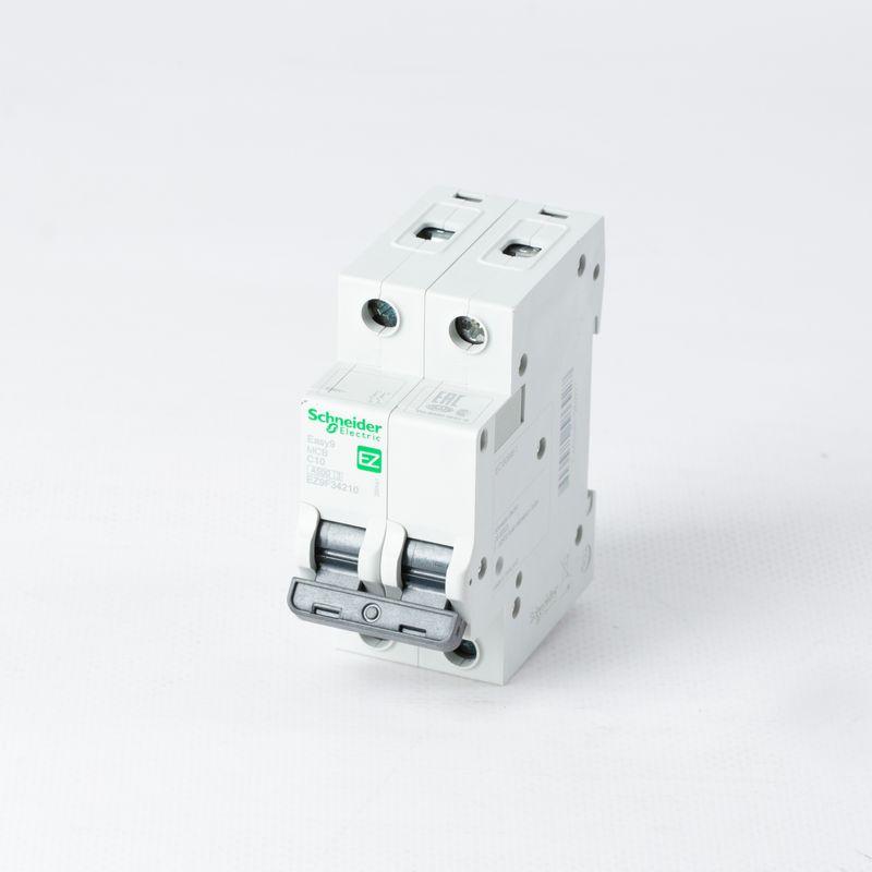 Выключатель автоматический модульный 2п C 10А 4,5кА EASY9 =S= SchE EZ9F34210