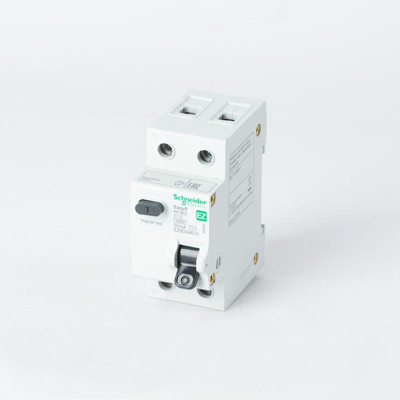 Выключатель автоматический дифференциального тока 2п (1P+N) C 10А 30мА тип AC 4,5кА EASY9 2мод. SchE EZ9D34610