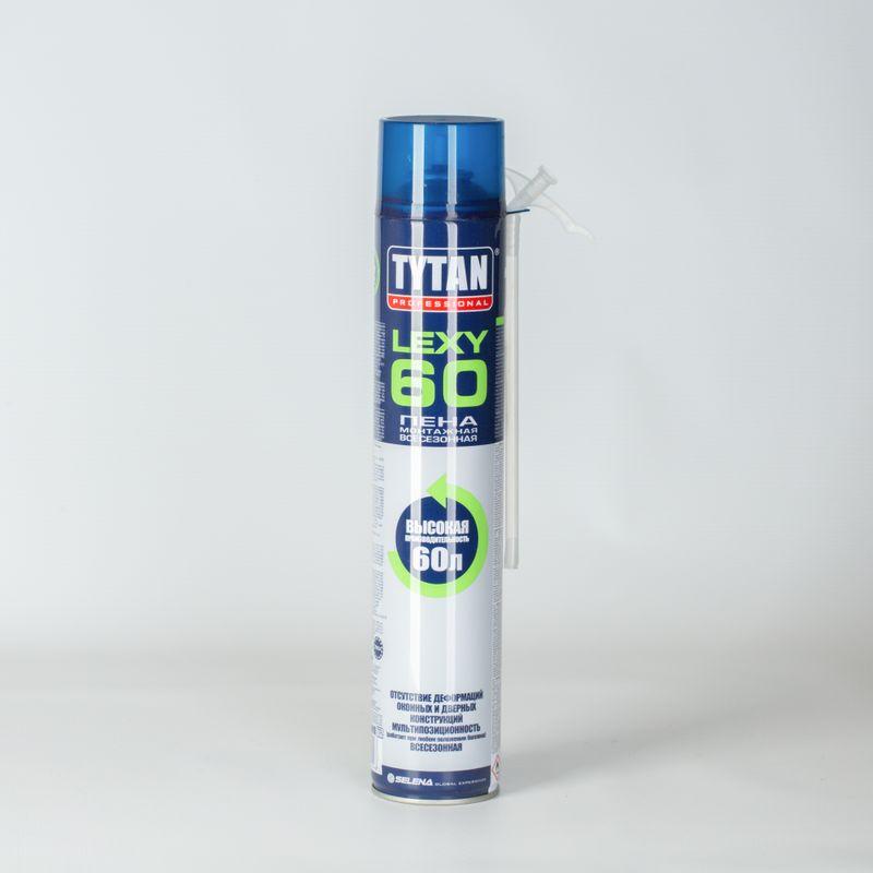 Пена монтажная Tytan О2 Lexy 60 бытовая,всесезон, 750мл