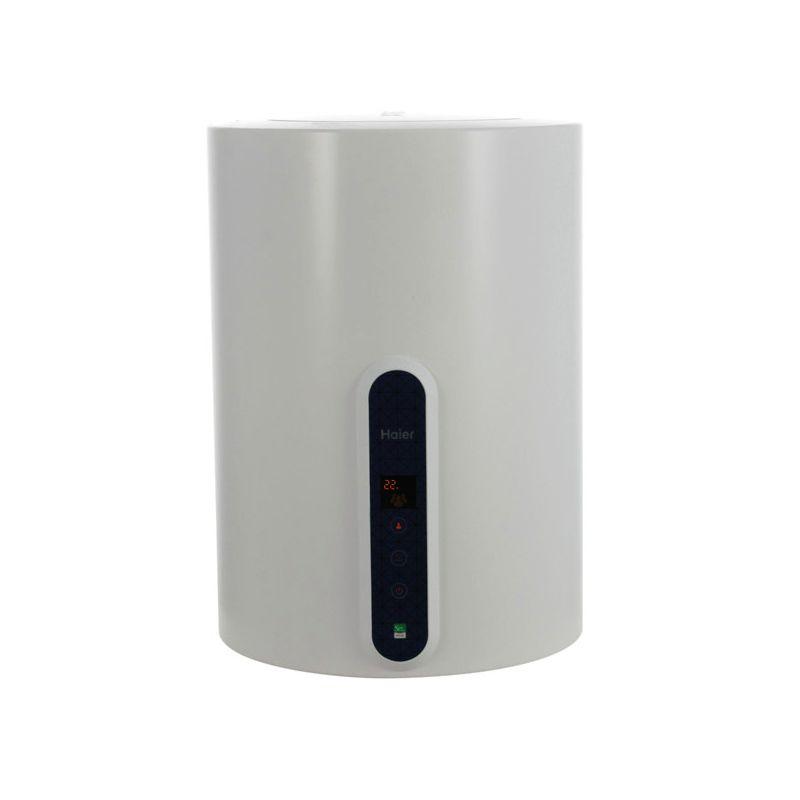 Водонагреватель электрический накопительный Haier ES50V-V1(R)<br>Объем: 50 л; Тип установки: Вертикальный; Вид водонагревателя: Круглый; Комплектация: С кронштейном; Комплектация: С кабелем; Способ установки: Настенный; Мощность: 2 КВт; Напряжение: 220 В; Тип бака: Эмалированная сталь; Максимальный нагрев: 75 С; Время нагрева стандарт режим: 80 мин; Присоединительный диаметр:  1/2; Модель: Es v1 r; Габариты: 629х444х432 мм; Вес: 20 кг; Страна производитель: Китай; Гарантия: 1 год; Бренд: Haier;