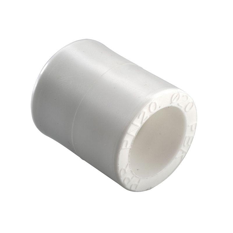Муфта полипропиленовая соединительная 25 РВКПредназначена для обеспечения герметичного соединения двух полипропиленовых труб методом тепловой сварки.<br><br>Производитель: Россия.<br><br>Технические характеристики:<br>Рабочая температура: +90С.<br>Максимальное давление: 20 атмосфер.<br>Тип: Соединительная; Тип монтажа: Сварка; Диаметр: 25 мм; Сфера применения: Холодное водоснабжение; Сфера применения: Радиаторное отопление; Сфера применения: Горячее водоснабжение; Давление: 20 Бар; Максимальная рабочая температура: до + 95 °С; Длина: 38,5 мм; Материал: Полипропилен; Срок эксплуатации: 50 лет; Бренд: РВК; Страна производитель: Россия;