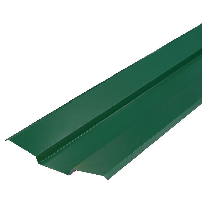 Планка ендовы верхняя Металлпрофиль Pe RAL 6005 76х76х2000мм зеленый мохПланка&amp;nbsp;ендовы&amp;nbsp;верхняя&amp;nbsp;76х76х2000&amp;nbsp;(ПЭ-6005-ОН)&amp;nbsp;зеленый&amp;nbsp;мох<br><br>Верхняя&amp;nbsp;планка&amp;nbsp;ендовы&amp;nbsp;для&amp;nbsp;металлической&amp;nbsp;кровли&amp;nbsp;при&amp;nbsp;закрытии&amp;nbsp;стыков,&amp;nbsp;образованных&amp;nbsp;двумя&amp;nbsp;скатами&amp;nbsp;кровельных&amp;nbsp;листов.&amp;nbsp;<br><br>Планка&amp;nbsp;зеленого&amp;nbsp;цвета,&amp;nbsp;применяемая&amp;nbsp;в&amp;nbsp;качестве&amp;nbsp;доборного&amp;nbsp;элемента&amp;nbsp;выполнена&amp;nbsp;в&amp;nbsp;форме&amp;nbsp;внутреннего&amp;nbsp;уголка,&amp;nbsp;в&amp;nbsp;середине&amp;nbsp;которого&amp;nbsp;сформирован&amp;nbsp;сливной&amp;nbsp;желоб.<br><br>НАЗНАЧЕНИЕ:<br><br>Верхняя&amp;nbsp;планка&amp;nbsp;ендовы&amp;nbsp;используется&amp;nbsp;для&amp;nbsp;придания&amp;nbsp;кровли&amp;nbsp;целостности,&amp;nbsp;прикрытия&amp;nbsp;кровельных&amp;nbsp;стыков,&amp;nbsp;а&amp;nbsp;также&amp;nbsp;удержания&amp;nbsp;основного&amp;nbsp;объема&amp;nbsp;дождевых&amp;nbsp;и&amp;nbsp;талых&amp;nbsp;вод.<br><br>ПРЕИМУЩЕСТВА:<br><br>Выполняет&amp;nbsp;декоративные&amp;nbsp;функции,&amp;nbsp;придавая&amp;nbsp;композиционно&amp;nbsp;законченный&amp;nbsp;вид&amp;nbsp;кровельному&amp;nbsp;покрытию;<br>Эффективная&amp;nbsp;(предотвращает&amp;nbsp;попадание&amp;nbsp;части&amp;nbsp;объема&amp;nbsp;дождевых&amp;nbsp;и&amp;nbsp;талых&amp;nbsp;вод&amp;nbsp;под&amp;nbsp;кровельное&amp;nbsp;пространство);<br>Скрывает&amp;nbsp;незначительные&amp;nbsp;изъяны,&amp;nbsp;неровности&amp;nbsp;и&amp;nbsp;разницу&amp;nbsp;в&amp;nbsp;размерах&amp;nbsp;кровельных&amp;nbsp;листов;<br>Эстетичная&amp;nbsp;(цветовой&amp;nbsp;диапазон&amp;nbsp;позволяет&amp;nbsp;подобрать&amp;nbsp;торцевую&amp;nbsp;планку&amp;nbsp;под&amp;nbsp;общую&amp;nbsp;цветовую&amp;nbsp;гамму&amp;nbsp;кровельного&amp;nbsp;покрытия);<br>Прочная&amp;nbsp;(форма&amp;nbsp;планки&amp;nbsp;в&amp;nbsp;виде&amp;nbsp;уголка&amp;nbsp;с&amp;nbsp;желобо