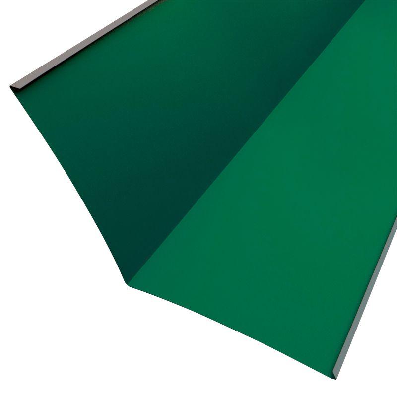 Купить Планка ендовы нижняя Металлпрофиль Pe RAL 6005 298х298х2000мм зеленый мох, Зеленый