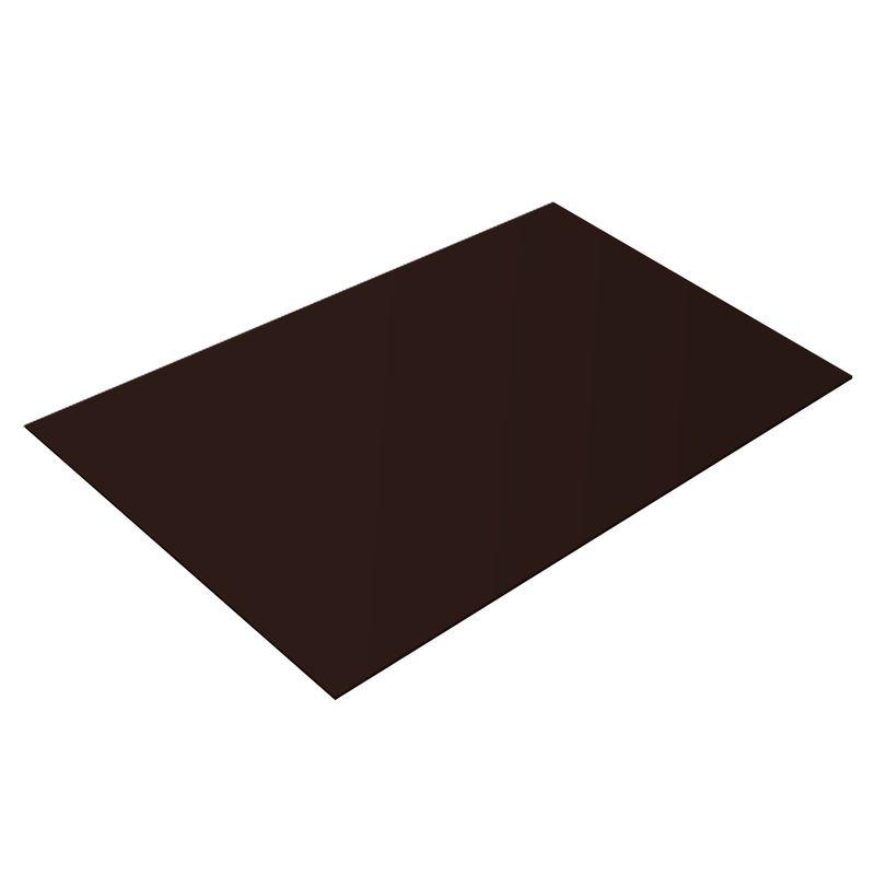 Купить Лист плоский (ПЭ-8017-0, 45 мм) 1, 25х2 шоколад, RAL 8017 шоколадно-коричневый, Оцинкованная сталь
