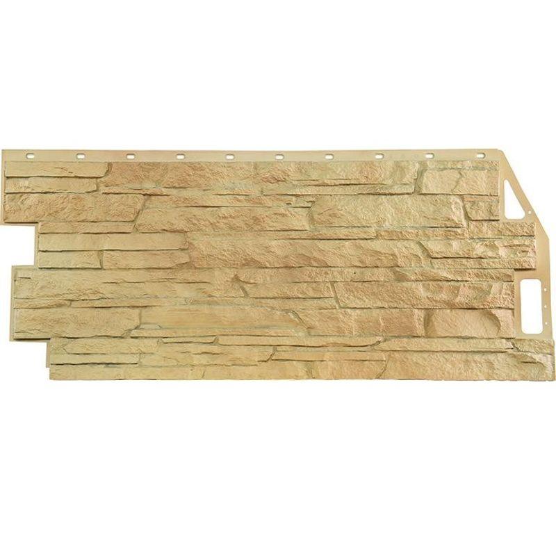 Панель фасадная FineBer Скала бежевый 1094х459мм<br>Бренд: FineBer; Толщина: 10 мм; Коллекция: Скала; Количество в упаковке: 10 шт;
