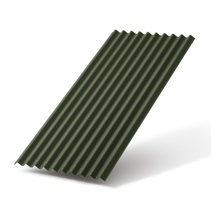 Черепица Ондулин SMART Зеленыая 1950х950мм<br>Цвет: Зеленый; Серия: Ондулин Smart; Ширина: 950 мм; Длина: 1950 мм; Полезная площадь при угле 5-10°: 1,25 м?; Толщина: 3 мм; Шаг волны: 95 мм; Высота волны: 38 мм; Количество волн: 10; Количество в упаковке: 15 шт; Полезная площадь при угле 10-15°: 1,5 м?; Полезная площадь при угле более 15°: 1,56 м?; Количество гвоздей на лист: 20 шт; Вес: 6,3 кг; Морозостойкость: F25; Состав: Битум; Состав: Целлюлозные волокна; Состав: Смола и минеральные пигменты; Состав: Минеральные вещества (наполнитель); Бренд: Onduline; Гарантия: 15 лет;