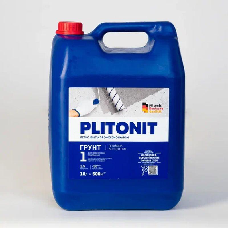 Купить Грунтовка Плитонит 1, 10 л концентрат, Plitonit, Белый