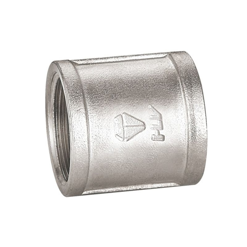 Муфта соединительная ВР 1 HLV<br>Тип: Соединительная; Тип резьбы: Вр; Диаметр резьбы: 1 ; Максимальная температура рабочей среды: + 110 °C; Материал: Латунь никелированная; Бренд: HLV; Страна производитель: Китай;