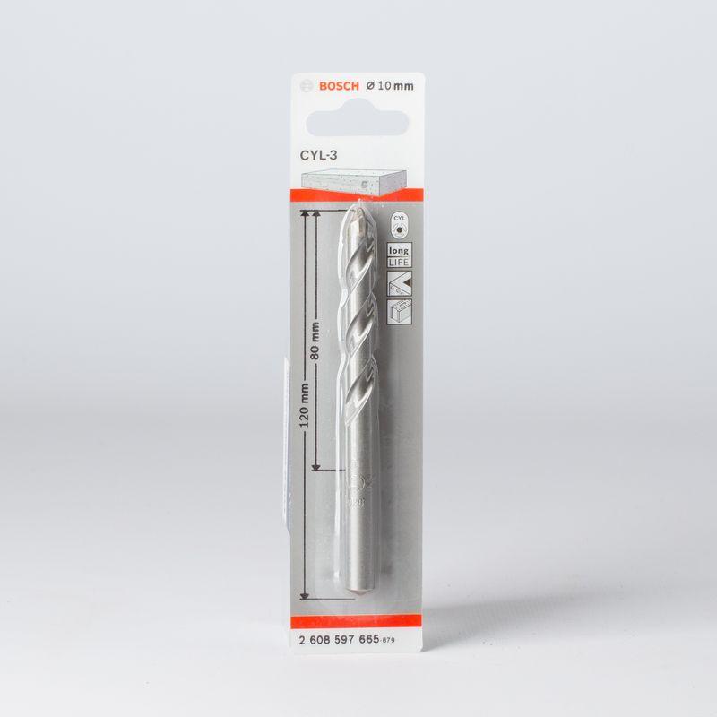 Сверло по бетону 10х120мм, BOSCH<br>Бренд: Bosch; Конструкция рабочей части: Спиральное; Обрабатываемый материал: Кирпич; Обрабатываемый материал: По бетону; Обрабатываемый материал: Камень; Хвостовая часть: Цилиндрическая; Тип: Сверло; Диаметр: 10 мм; Общая длина: 120 мм; Длина рабочей части: 80 мм; Тип по форме отверстия: Цилиндрический; Материал хвостовика: Сталь; Материал рабочей части: Твердосплавный наконечник; Количество предметов: 1; Набор: Нет;