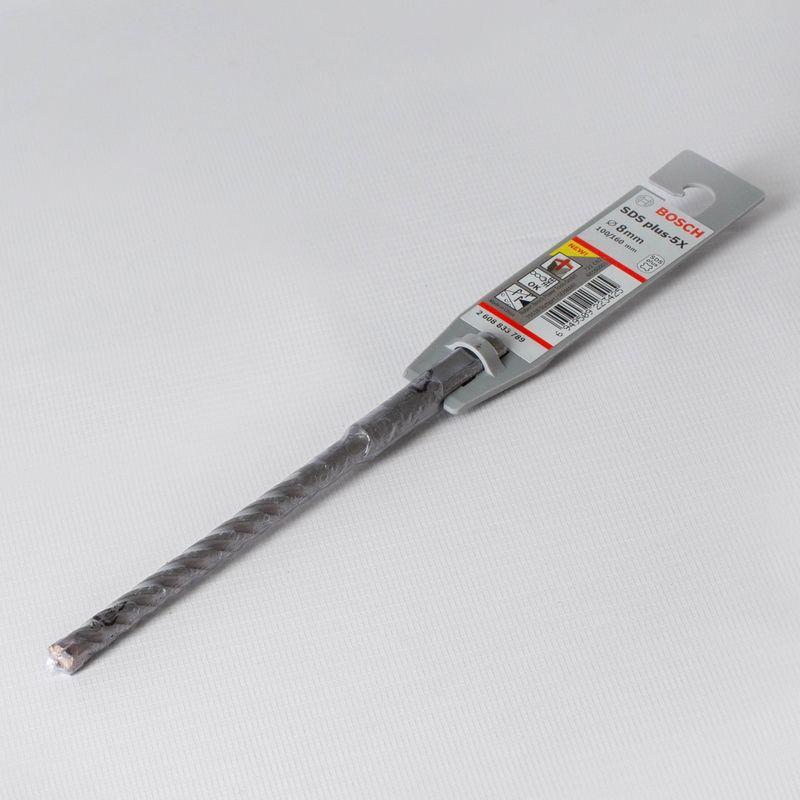 Бур 8-165мм SDS+ (100мм), BOSCHБур 8-165мм SDS+ (100мм), BOSCH<br><br>Бур BOSCH для легких перфораторов. Для работы с бетоном, кирпичом, гранитом. Диаметр 8 мм, рабочая длина 100 мм.<br><br>НАЗНАЧЕНИЕ:<br><br>Для&amp;nbsp;полупрофессиональных&amp;nbsp;перфораторов и ударных дрелей;<br>Сверление натурального камня, кирпичной кладки;<br>Сверление армированного и неармированного бетона.<br><br>ПРЕИМУЩЕСТВА:<br><br>Точность в работе (сверло усиленное&amp;nbsp;&amp;nbsp;четырехканавочное, улучшенная спиралевидная поверхность сверла, в канале держится ровно, без &amp;laquo;соскальзывания&amp;raquo;, двойная спираль);<br>Аккуратность (большие и широкие&amp;nbsp;пылеотводящие&amp;nbsp;каналы);<br>Долгий срок службы (высокая прочность, благодаря&amp;nbsp;твердосплавленной&amp;nbsp;&amp;nbsp;пластине меньший износ инструмента, минимальное трение при работе)<br>Устанавливается в патрон по системе SDS-plus (надежная фиксация бура в патроне);<br>Хвостик диаметром 10мм, сверление на глубину до 10 см;<br>Исключение процесса закаливания сверла в арматуре.<br><br>РЕКОМЕНДАЦИИ:<br><br>Для продолжительного срока службы инструмента не допускается попадание пыли внутрь патрона;<br>Необходимо использовать специализированную смазку для патрона при каждой работе с инструментом;<br>Выбирайте бур по назначению в соответствии с длиной и диаметром инструмента, а так же прочностью основания;<br>Перед работой инструмент рекомендовано осмотреть на исключение видимых дефектов;<br>Не используйте бур с деформированным хвостиком;<br>Для продолжительности срока службы бура необходимо хранить его аккуратно, в чистом виде, без соприкосновения с водой.<br><br>МЕРЫ ПРЕДОСТОРОЖНОСТИ:<br><br>Хранить инструмент в отдельном отведенном для него месте;<br>Используйте средства защиты органов дыхания и глаз;<br>Берегите руки при работе с нагретыми элементами.<br>Бренд: Bosch; Модель: 8-165мм sds+ 100мм , bosch; Код производителя: 1618596173; Тип: С не большим углом наклона канавки; Тип хвостика: SDS-plus; Тип спи