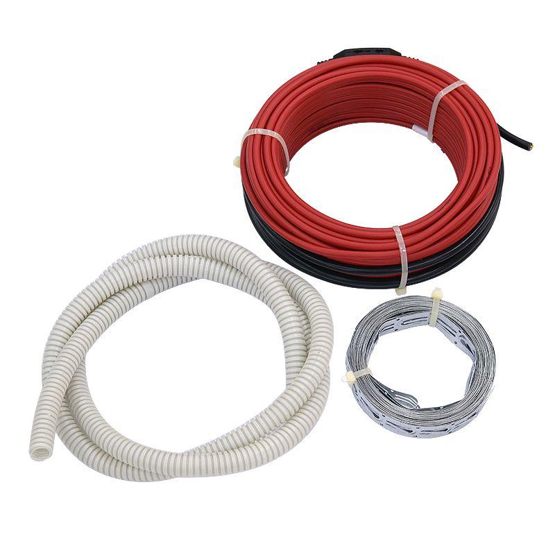 Нагревательный кабель Warmstad WSS-1115 без термостатаWarmstad - теплый пол в стяжку<br><br>Секции тёплого пола Warmstad соответствуют международным и российским стандартам качества и имеют соответствующие сертификаты. Гарантийный срок службы составляет 15 лет.<br>Кабель укладывается в цементно-бетонную стяжку, толщина которой должна быть не менее 5см. Для укладки кабеля черновой пол необходимо тщательно очистить и выровнять по горизонтальному уровню.<br>Далее следует уложить теплоизоляционный материал с отверстиями для сцепления поверхности чернового пола с новой бетонной стяжкой. Поверх теплоизоляции укладывается нагревательный кабель змейкой с шагом в соответствии с инструкцией по монтажу. Крепится он к теплоизоляционному материалу специальной монтажной лентой.<br>Кабель Warmstad двухжильный, поэтому, такой теплый пол подключается к электросети только в одной точке. Один конец кабеля подключается к регулятору температуры, а второй оконцовывается муфтой.<br>Перед заливкой кабеля бетонной стяжкой следует проверить исправность его работы, подключив на некоторое время к электрической сети. Убедившись, что кабель прогревается равномерно, нужно приступать к заливке стяжки толщиной 5 и более сантиметров. Такой слой обеспечивает хорошее накопление тепла и его удержание в течение длительного времени после выключения системы.<br>На бетонную стяжку можно укладывать любое напольное покрытие: ковролин, керамическую или каменную плитку, паркет, линолеум, ламинат и др.<br>Тёплый пол этой марки удобно монтировать при капитальном ремонте квартиры, так как нужно произвести демонтаж старого напольного покрытия. Монтаж кабельных секций занимает немного времени и идеален для новостроек. Он может применяться как основное или дополнительное отопление жилья, позволяющее создать независимый обогрев комнат.<br>Мощность: 1115 Вт; Площадь обогрева: 7,4-10,1 м?; Термостат: Нет; Модель: WSS; Бренд: Warmstad; Напряжение: 220 В; Страна производитель: Россия; Применение: Укладывается в стяжку по