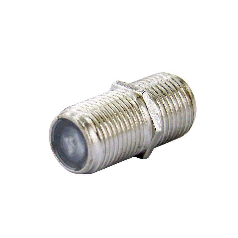Штекер-соединитель ТВ кабеля (разъем F)Штекер-соединитель ТВ кабеля (разъем F)<br><br>Штекер для соединения отрезков телевизионного кабеля с двумя входящими разъемами F.<br><br>НАЗНАЧЕНИЕ:<br><br>Удлинение телевизионного кабеля;<br><br>Соединение разрыва;<br><br>Подходит для кабелей и проводимостью 50-75 ОМ.<br><br>ПРЕИМУЩЕСТВА:<br><br>Выполнен из металла;<br><br>Резьбовое подключение к F-разъемам &amp;mdash; полностью исключено случайное отсоединение частей кабеля.<br>Страна производитель: Китай; Назначение: Для коаксиального кабеля; Тип разъема: TV/SAT МАМА; Маркировка: F; Тип крепления: Винтовое; Материал корпуса: Металл;