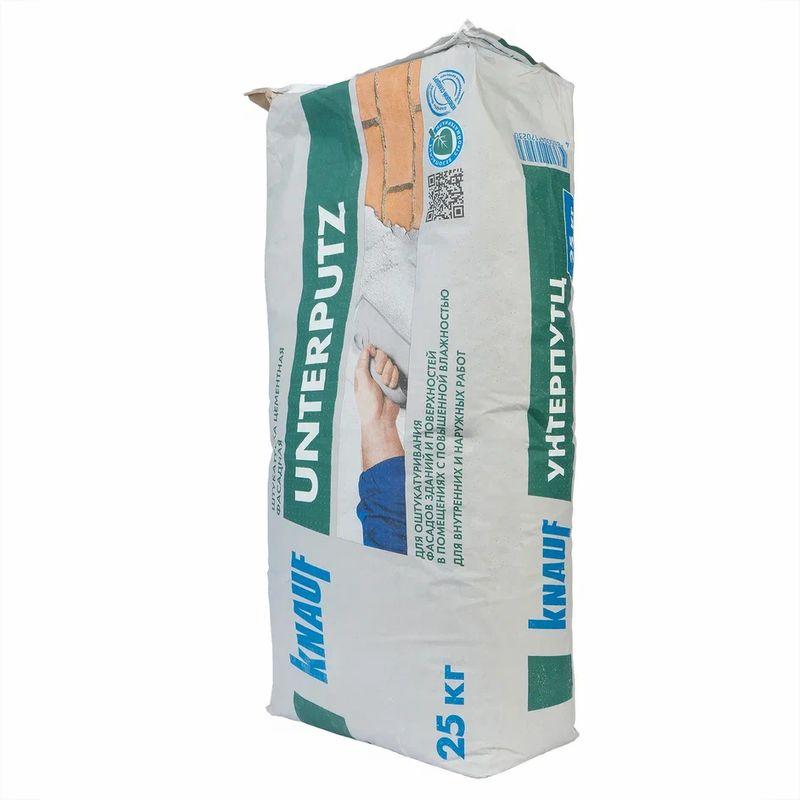 Купить Штукатурка Кнауф Унтерпутц цементная фасадная, 25 кг, Knauf, Серый