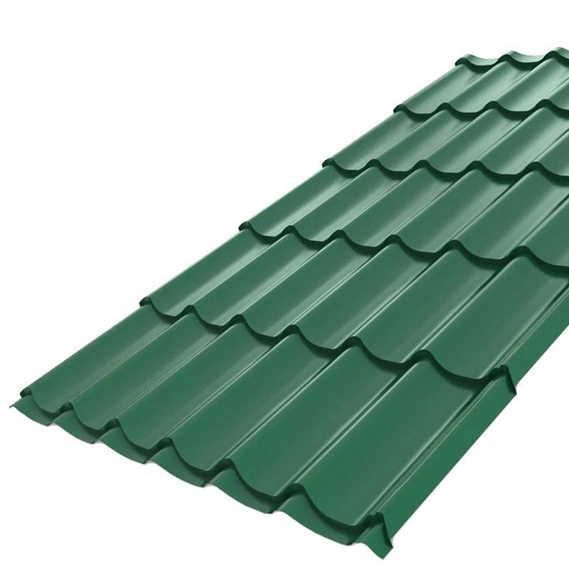 Металлочерепица Монтеррей 1190мм (ВИК-6005-0,45 мм) зеленый мох<br>Высота профиля: 14 мм; Покрытие: VikingMP E; Производитель: Металлпрофиль; Тип профиля: Монтеррей; Толщина металла: 0,45 мм; Толщина покрытия: 25 мкм; Цвет: Зеленый; Шаг волны профиля: 350 мм; Ширина: 1190 мм; RAL: 6005; Вертикальный нахлест: 150 мм; Вертикальный шаг волны: 1100 мм; Монтажная ширина: 183,3 мм; Цвет производителя: Зеленый мох;