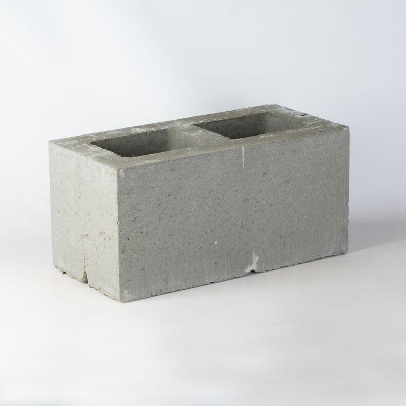 Блок керамзитобетонный вентиляционный 2-канальный 390х190х188 мм