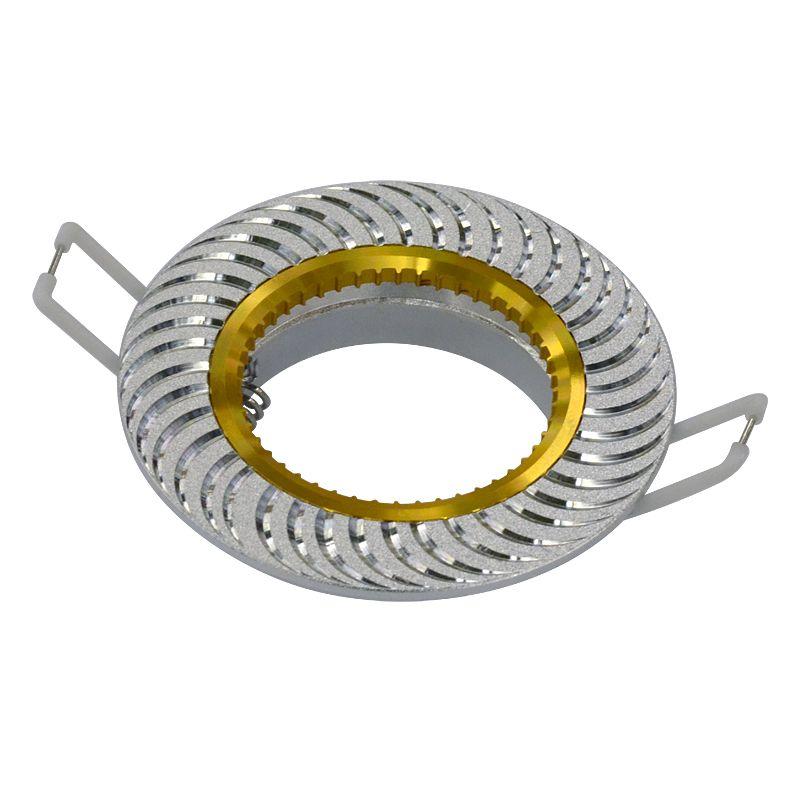 Точечный светильник A720 AL/G алюминий/золото Ambrella