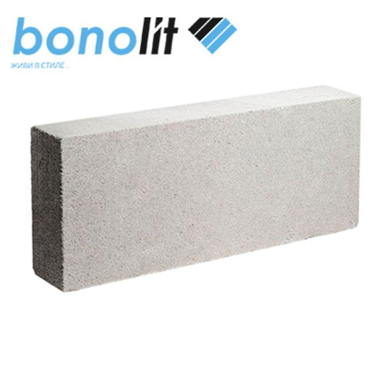 Блок газобетонный Bonolit D500 625х250х100 ммБлок газобетонный гладкий 100х250х625мм, D500,&amp;nbsp;Грас<br><br>Полнотелый блок из ячеистого бетона<br><br>НАЗНАЧЕНИЕ:<br><br>Возведение перегородок в малоэтажном и высотном строительстве.<br><br>ПРЕИМУЩЕСТВА:<br><br>Экологичный (состоит из природных неорганических компонентов: кварцевый песок, известь, гипс, цемент, вода;<br><br>без применения вредных химических добавок);<br>Легко обрабатывается простыми режущими инструментами (можно пилить,&amp;nbsp;штрабить, сверлить и т.д.);<br>Создает оптимальный микроклимат в помещении (пористая структура);<br>Долговечный (искусственный камень, который не горит и не гниет);<br>Огнестойкий (автоклавный газобетон относится к негорючим материалам и выдерживает температуры свыше 1000С);<br>Экономия на отделочных материалах (точная геометрия блоков);<br>Экономия на отоплении (низкая теплопроводности 0,12 Вт/м 0С);<br>Легкая, быстрая укладка блоков (крупный размер блоков);<br>Прочный (марка прочности М-35);<br>Легкий вес 10,3кг (не оказывает высокой нагрузки на перекрытия и фундамент).<br><br>РЕКОМЕНДАЦИИ:<br><br>Используйте для работы с газобетонными блоками специальные инструменты (кельма для кладки, рубанок,&amp;nbsp;штроборез, угольник, терка и пила для газобетона);<br>При монтаже использовать специализированный клей для ячеистых бетонов.<br>Длина: 625 мм; Ширина: 100 мм; Высота: 250 мм; Назначение: Перегородочный; Марка по плотности: D 500; Класс прочности: В 3,5; Плотность: 500 кг/м?; Теплопроводность: 0,12 Вт/м°С; Паропроницаемость: 0,2 мг/м*ч*Па; Морозостойкость: F 75; Усадка при высыхании: 0,24 мм/м; Количество в 1 м3: 64 шт; Количество на поддоне: 128 шт; Объем блоков на поддоне: 2 м?; Вес: 8 кг; Бренд: Bonolit; Производитель: Г. Малоярославец;