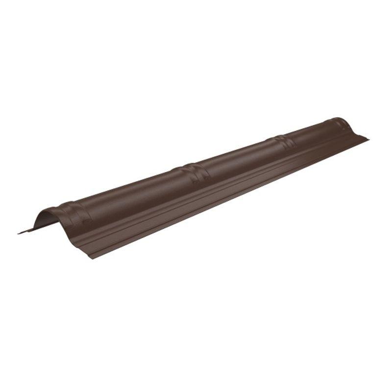 Конек Onduvilla 1060 х 194 мм коричневыйУпаковка 20 шт.<br>RAL: 8002; Полезная длина: 1020; Длина: 1060; Бренд: Onduvilla; Ширина: 194; Назначение: Еврошифер; Вес: 0,54; Цвет производителя: Коричневый; Толщина: 3 мм; Цвет: Коричневый; Покрытие: Модифицированный битум;