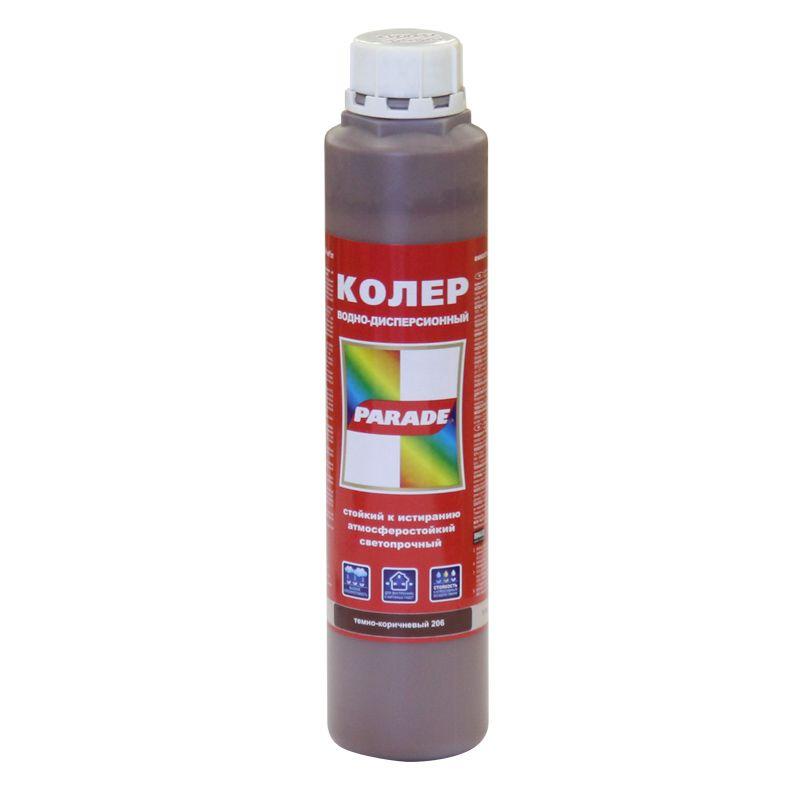 Купить со скидкой Колер PARADE в/д № 206 (темно-коричневый) 0,75л
