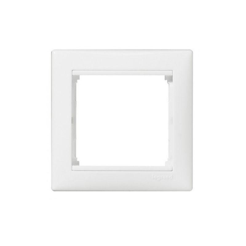 Рамка 1-местная белая VALENA LEGRANDРамка 1-местная белая VALENA LEGRAND<br><br>Одноместная рамка VALENA &amp;nbsp;LEGRAND для скрытия розеток или выключателей. Цвет &amp;ndash; белый.<br><br>НАЗНАЧЕНИЕ:<br><br>Предназначена для скрытия розеток и выключателей со встраиваемым типом монтажа коллекции VALENA LEGRAND<br><br>ПРЕИМУЩЕСТВА:<br><br>Удобство монтажа (быстрая установка защелкиванием, длина посадки регулируется до 20мм);<br><br>Дизайн (красивая обтекаемая форма белоснежного цвета, хорошо скрывает розетки и выключатели);<br><br>Надежность (упор конструкции розетки в стену, корпус из негорячего поликарбоната, каркас устойчив к механическому повреждению, защита от УФ лучей);<br><br>Огнестойкость (выдерживает температуру до +650*С в течении 30 секунд).<br><br>РЕКОМЕНДАЦИИ:<br><br>Использовать для розеток и выключателей скрытого типа установки;<br><br>При установке розетки и рамки на нее, необходимо убедиться в &amp;nbsp;геометрии стен для полного прилегания &amp;nbsp;конструкции;<br><br>Скорректировать положение рамки при помощи строительного уровня;<br><br>Клавиши выключателя установить, надавливая до упора. Розетки фиксируются саморезами;<br><br>Не затягивайте через силу рамку &amp;ndash; она может треснуть;<br><br>В случае не плотного прилегания конструкции к стене &amp;ndash; проверить правильность выставления внутреннего механизма<br><br>МЕРЫ ПРЕДОСТОРОЖНОСТИ:<br><br>Работы с установкой розеток и выключателей происходят в отсутствии детей и животных.<br><br><br>&amp;nbsp;<br>Родина бренда: Франция; Бренд: Legrand; Коллекция: Valena; Стилизация: Монотонный; Цвет: Белый; Назначение: Для выключателя; Назначение: Для розетки; Количество гнезд: Одноместная; Материал: Пластик; Высота: 9 мм; Ширина: 82 мм; Длина: 82 мм; Степень защиты: IP 20;