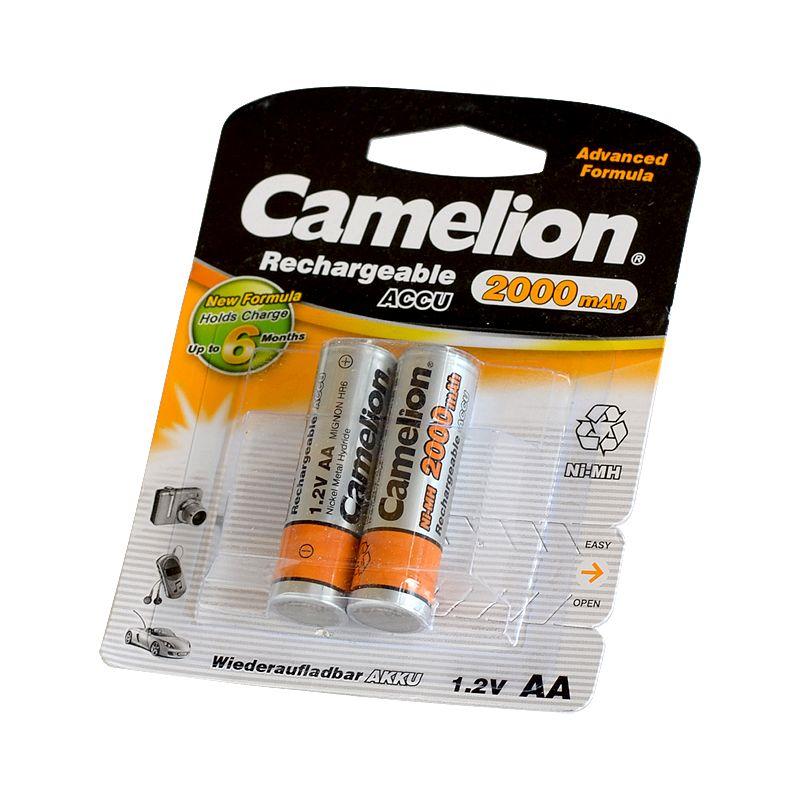 Аккумулятор AA-2000 R6 2000 mAh (2шт/уп) CAMELION<br>Страна производитель: Китай; Бренд: Camelion; Тип: Никель-металлгидридный; Типоразмер: Aa; Емкость: 2000 мА·ч; Количество в упаковке: 2 шт; Циклы перезарядки: 1000 циклов; Номинальное напряжение: 1,2 В; Минимальная температура эксплуатации: -10 °C; Максимальная температура эксплуатации: +45 °C;