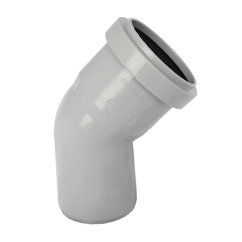 Отвод канализационный Ostendorf 40 45°Отвод предназначен для создания поворота внутренней канализационной системы из труб диаметром 40 мм. Обеспечивает поворот системы на 45?.<br>Состав: полипропилен.<br>Производитель: Германия.<br>Технические характеристики<br>Рабочая температура: кратковременно до +95?С.<br>Рабочее давление соединений: до 1 атмосферы.<br><br>Тип канализации: Внутренняя; Материал: Полипропилен; Диаметр: 40 мм; Угол поворота: 45 °; Максимальная температура рабочей среды: + 95 °C; Бренд: Ostendorf; Страна производитель: Россия;