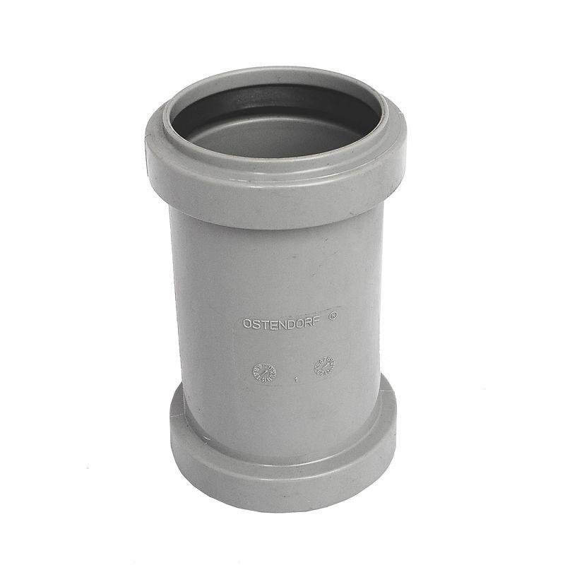 Муфта канализационная Ostendorf 50Муфта предназначена для соединения обрезков внутренних канализационных труб с гладкими краями (без раструба) диаметром 50 мм.<br>Состав: полипропилен.<br>Производитель: Германия.<br>Технические характеристики<br>Рабочая температура: кратковременно до +95?С.<br>Рабочее давление соединений: до 1 атмосферы.<br><br>Страна производитель: Германия; Бренд: Ostendorf; Диаметр: 50 мм; Тип канализации: Внутренняя; Материал: Полипропилен;