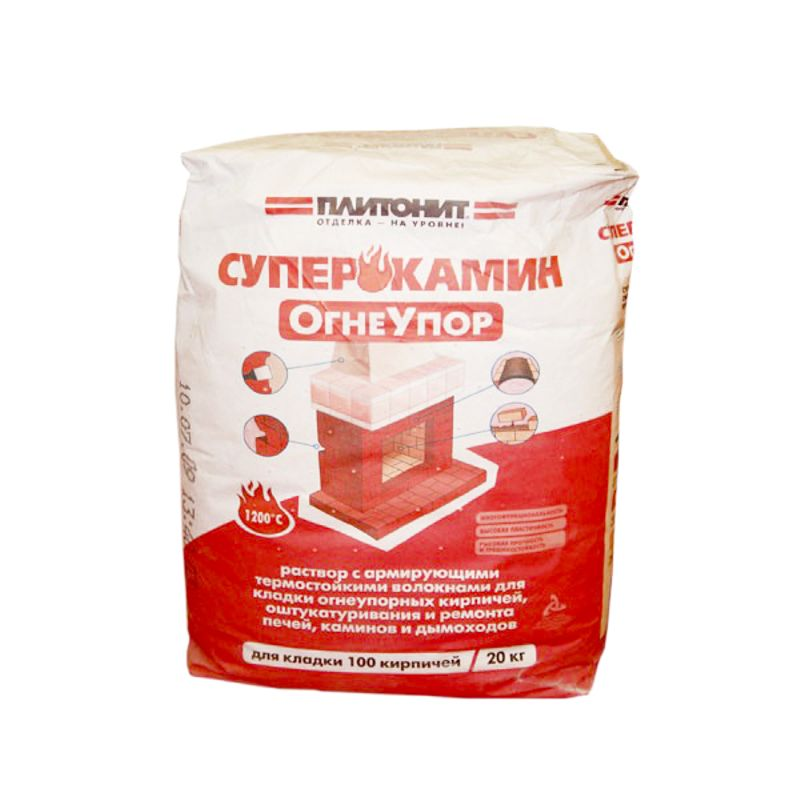 Купить Кладочный состав Плитонит СуперКамин Огнеупор жёлтый, 20 кг, Plitonit