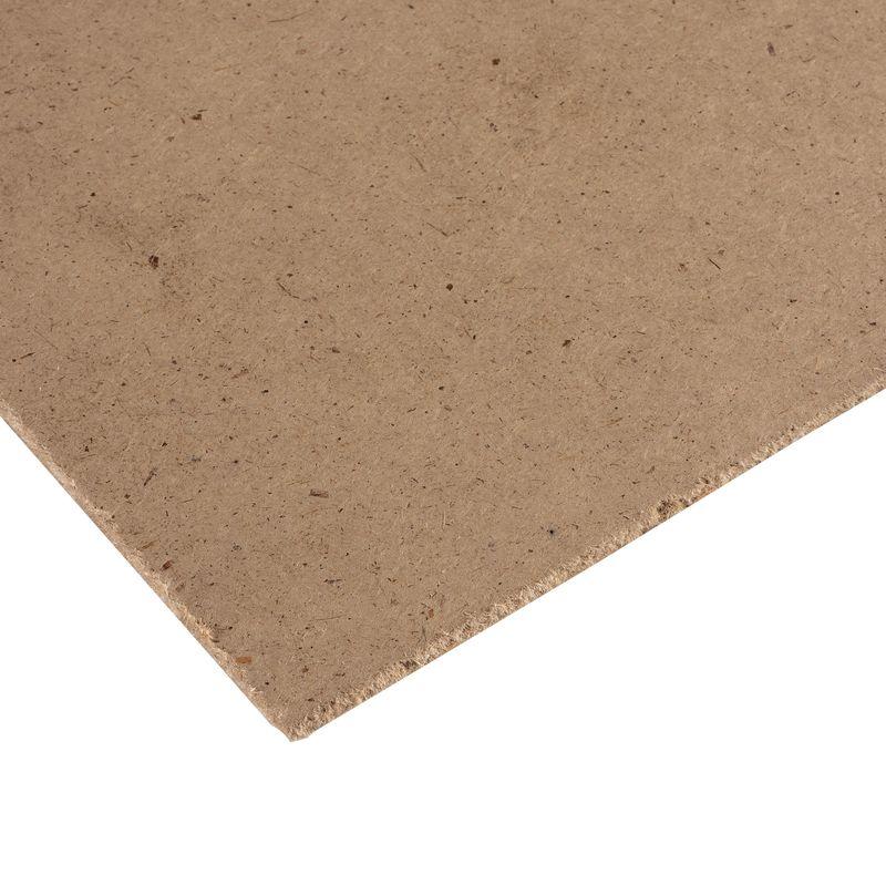 ДВП малоформатное 2440х1220х3,2 ммДВП 2440х1220х3,2 мм (малоформатное)<br><br>Гладкая древесно-волокнистая плита уменьшенного размера<br><br>НАЗНАЧЕНИЕ:<br><br>Обшивка потолков, стен и внутренних перегородок в сухих помещениях с целью выравнивания, звукоизоляции и декорирования;<br><br>Облицовка дверей;<br><br>Используется в качестве подкладки под любые виды напольного покрытия;<br><br>Применяется для изготовления мебели, столярных изделий, тары.<br><br>ПРЕИМУЩЕСТВА:<br><br>Древесно-волокнистая плита отлично подходит для звукоизоляции помещений - обладает звукопоглащающим коэффициентом от 0,4 до 0,8 при 1000Гц;<br><br>Листы ДВП благодаря волокнистой структуре не подвергаются растрескиванию и обладают высокой упругостью;<br><br>Микропоры по всей толщине древесно-волокнистой плиты понижают ее теплопроводность, тем самым увеличивают ее теплоизоляционные показатели;<br><br>Размер плиты 2440*1220 &amp;mdash; облегчает обшивку стен и перегородок в небольших помещениях;<br><br>Класс эмиссии вредных веществ &amp;mdash; Е1 &amp;mdash; экологически безопасен, в том числе при использовании в детских комнатах и для изготовления детской мебели;<br><br>Гладкая поверхность позволяет легко выровнять стены, перегородки и потолок;<br><br>Высокая износостойкость &amp;mdash; при правильной эксплуатации ДВП сохранит свои качества и внешний вид на много лет.<br><br>РЕКОМЕНДАЦИИ ПО РАБОТЕ:<br><br>Работайте с ДВП в теплом и сухом помещении - температура воздуха должна быть выше +5 С, влажность &amp;ndash; не больше 60%;<br><br>Распил плиты производите на опоре или распиловочном столе;<br><br>Не используйте древесно-волокнистую плиту для отделки влажных помещений и санузлов.<br><br>МЕРЫ ПРЕДОСТОРОЖНОСТИ<br><br>Производите распил в защитных очках и перчатках.<br><br>&amp;nbsp;<br>Марка: Т; Тип: Твердая; Сорт: Сорт 1; Способ производства: Мокрый; Длина: 2440 мм; Ширина: 1220 мм; Толщина: 3,2 мм; Площадь плиты: 2,97 м?; Вес плиты: 9,53 кг; Цвет двп: Горчичный; Поверхность лицевой стороны: Глад