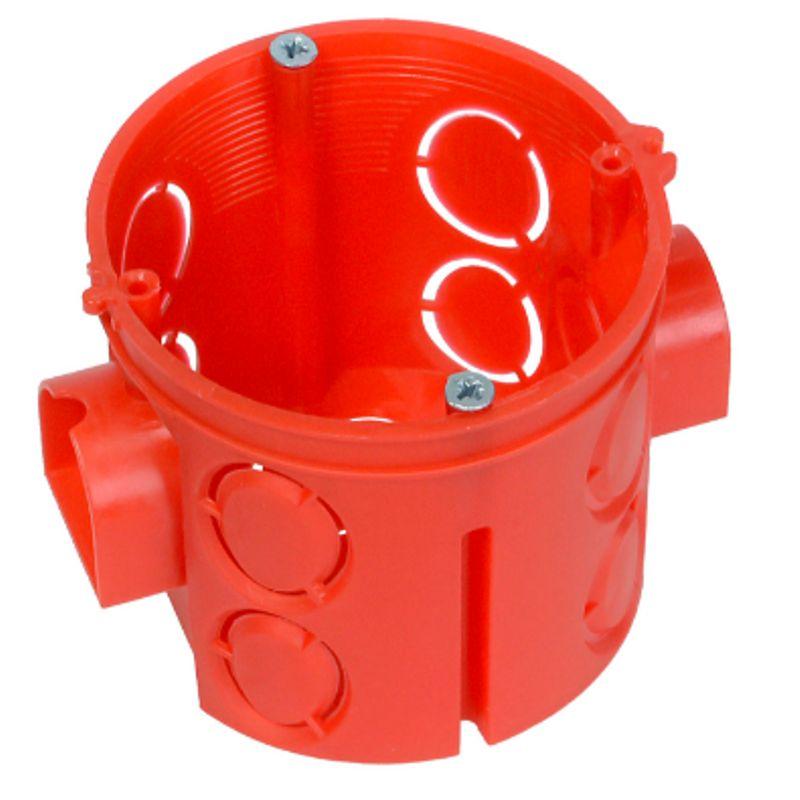Коробка установочная 64х62мм<br>Страна производитель: Россия; Цвет: Красный; Объект применения: Для кирпича; Объект применения: Для бетона; Назначение: Посадка электроустановочных изделий; Тип установки: Скрытый; Форма: Круглая; Крепление розетки: Саморезы; Материал: Пластик; Высота: 62 мм; Ширина: 64 мм; Температура эксплуатации: От -25°С до +40°С °C;