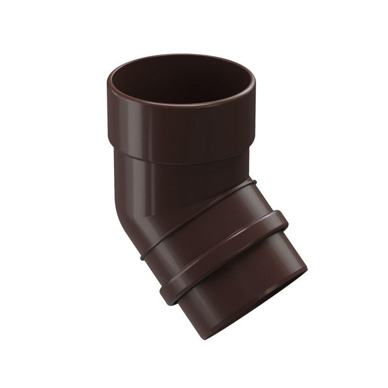 Колено трубы Docke LUX 45° ШоколадКолено трубы Docke Lux 45&amp;deg; Шоколад<br><br>Колено трубы круглого сечения 45&amp;deg; Docke предназначено &amp;nbsp;для огибания различных элементов и препятствий на стене или крыше объектов с большой площадью кровли. Коллекция - Lux. Цвет &amp;ndash; шоколад.<br><br>НАЗНАЧЕНИЕ:<br><br>Огибание элементов и препятствий на стене или крыше объектов с большой площадью кровли;<br><br>Соединение водосточной воронки с трубой;<br><br>Защита стен и кирпичной кладки от попадания воды, разводов и вымывания фундамента.<br><br>ПРЕИМУЩЕСТВА:<br><br>Прочность (в основе пластик Lux &amp;ndash; материал с усиленной прочностью, устойчив при изменении температуры воздуха, не трескается, не деформируется на солнечных лучах);<br><br>Легкость и герметичность (система не оказывает нагрузку на крышу и стены зданий, &amp;nbsp;отсутствие дополнительных уплотнителей при установке);<br><br>Долговечность (не требует ухода после установки, производитель дает гарантию 20 лет, устойчива к морозу, низким и высоким температурам, УФ лучам, не выгорает на солнце, не подвержена коррозии и ржавчине);<br><br>Удобство установки (простой монтаж - с самостоятельной установкой может справиться новичок, система водостока в наличии в сборе, легко отрезать по нужным размерам, работа обычными инструментами);<br><br>Дизайн (стойкие яркие цвета, со временем &amp;nbsp;не выгорают на солнце, гармоничное сочетание по цвету со многими строительными материалами, фасадами зданий);<br><br>Универсальность (применение на жилых домах, постройках, беседках, кафе, магазинах, установка на деревянные или кирпичные стены);<br><br>РЕКОМЕНДАЦИИ:<br><br>Для увеличения расстояния между стеной и 1 &amp;nbsp;водосточной трубой используйте не менее 3 элементов &amp;nbsp;колена трубы на нижнюю часть водостока.<br><br>Чем больше угол изгиба, тем больше препятствий для потока воды.<br><br>На меньшем углу изгиба скапливается меньше мусора.<br><br>При монтаже колено одеть на воронку с использованием у