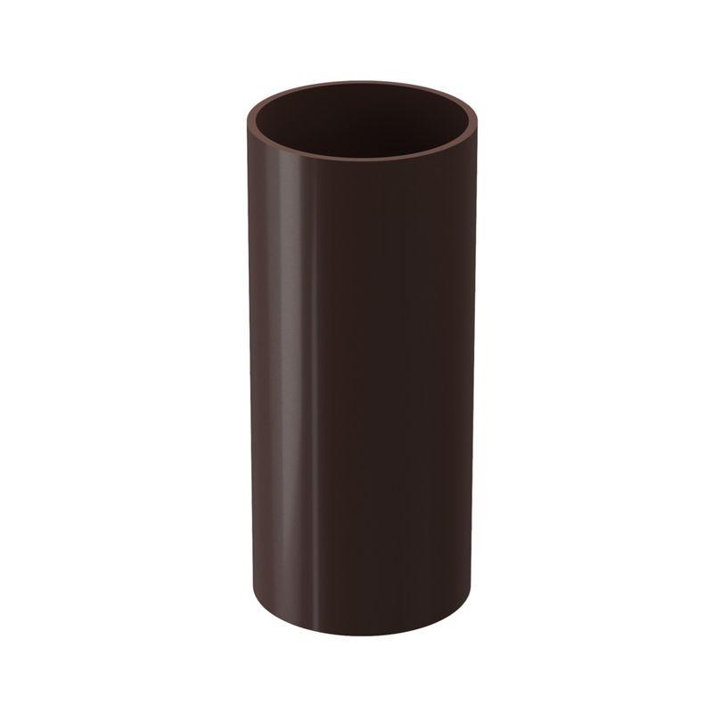 Купить Труба водосточная Docke LUX 3м Шоколад, Коричневый, Пластик, Россия