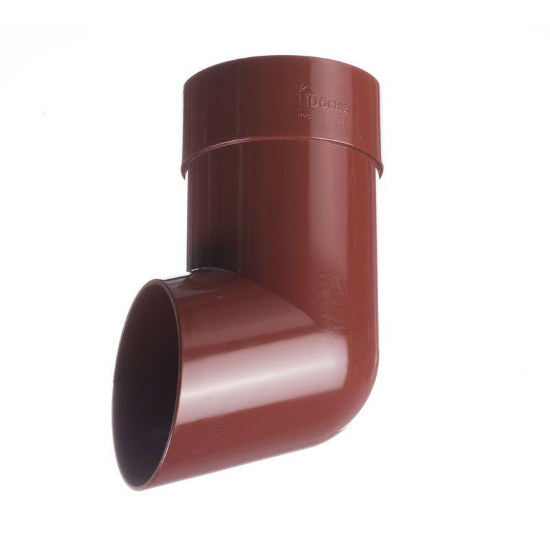 Наконечник трубы Docke Standart ГранатНаконечник трубы Docke Standart Гранат<br><br>Наконечник водосточной трубы круглого сечения Docke - завершающий элемент в водосточной системе для слива воды на землю или в специальный коллектор. Коллекция - Standart. Цвет &amp;ndash; гранат.<br><br>НАЗНАЧЕНИЕ:<br><br>Отвод талой и дождевой &amp;nbsp;воды из системы водослива на землю или в емкость для сбора воды;<br><br>Защита фундамента и стен здания от разрушения водой, предотвращение размывания &amp;nbsp;грунта.<br><br>ПРЕИМУЩЕСТВА:<br><br>Прочность (в основе пластик &amp;ndash; прочный материал, устойчив при изменении температуры воздуха, не трескается, не деформируется на солнечных лучах);<br><br>Легкость и герметичность (система не оказывает нагрузку на крышу и стены зданий, &amp;nbsp;отсутствие дополнительных уплотнителей при установке);<br><br>Долговечность (не требует ухода после установки, производитель дает гарантию 20 лет, устойчива к морозу, низким и высоким температурам, УФ лучам, не выгорает на солнце, не подвержена коррозии и ржавчине);<br><br>Удобство установки (простой монтаж - с самостоятельной установкой может справиться новичок, система водостока в наличии в сборе, легко отрезать по нужным размерам, работа обычными инструментами);<br><br>Дизайн (стойкие яркие цвета, со временем &amp;nbsp;не выгорают на солнце, гармоничное сочетание по цвету со многими строительными материалами, фасадами зданий);<br><br>Универсальность (применение на жилых домах, постройках, беседках, кафе, магазинах, установка на деревянные или кирпичные стены);<br><br>РЕКОМЕНДАЦИИ:<br><br>Соединить колено трубы, трубу и наконечник между собой. После этого составной элемент установить к воронке;<br><br>Монтаж системы при температуре не менее +5&amp;deg;С;<br><br>Резка пластиковых деталей пилой по металлу или ножовкой. Кромки зачищаются наждачной бумагой.<br><br>Рекомендации по уходу:<br><br>Проверка состояния водосточной системы осенью и зимой;<br><br>Удаление мусора и грязи только мягкими с