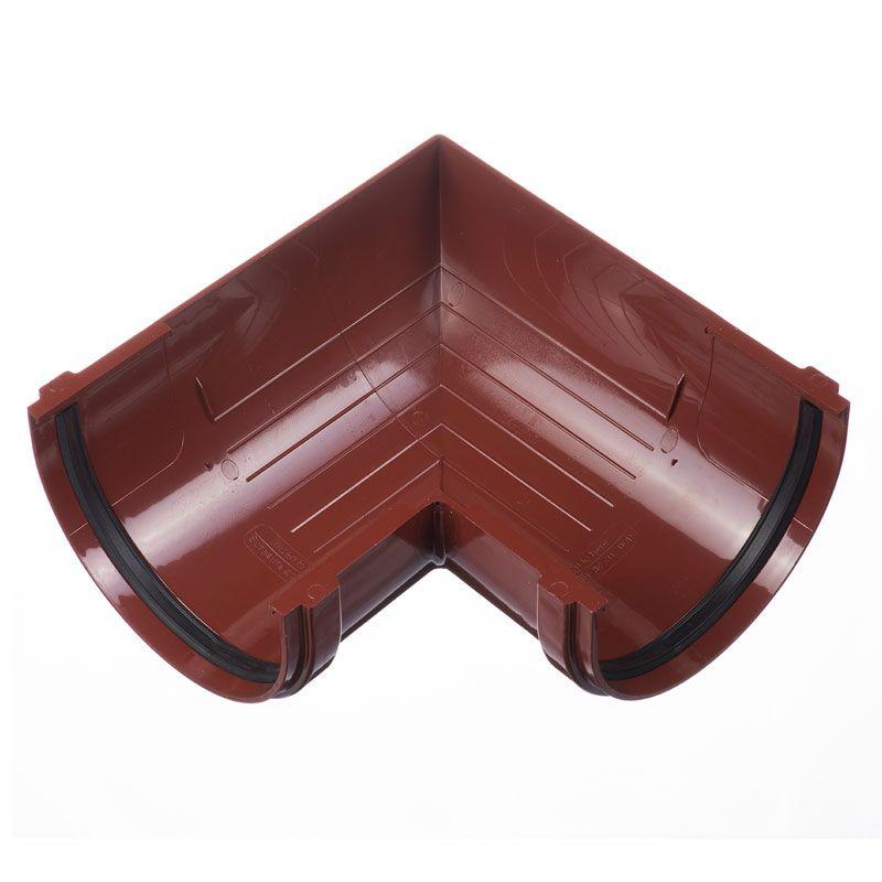 Угловой элемент желоба Docke Standart 90° Гранат<br>Бренд: Docke; Коллекция: Standard; Диаметр желоба: 120 мм; Угол изгиба: 90 °; Материал: Пластик; Сечение: Круглое; Цвет: Красный; Цвет производителя: Гранат; Область применения: Для пвх водосточки; Страна производитель: Россия; Вес: 0,25 кг;
