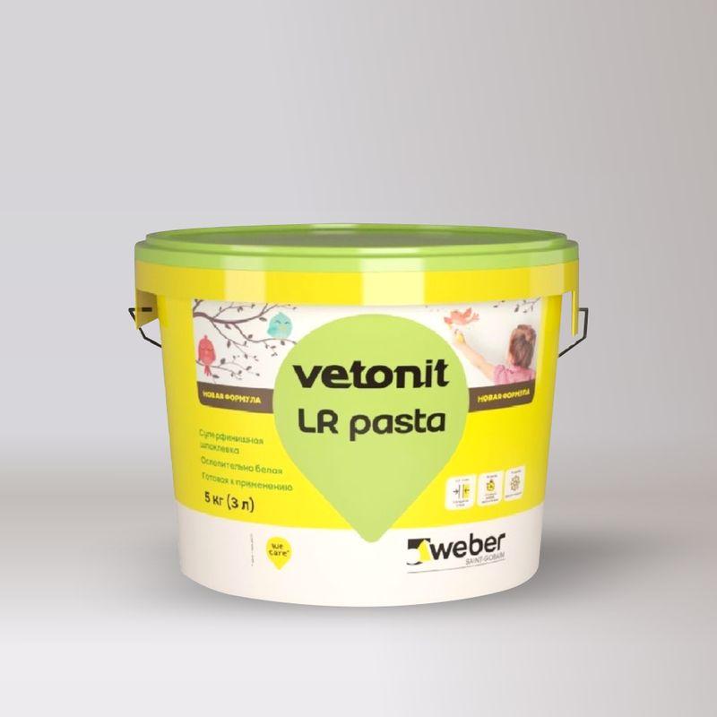 Шпаклевка weber.vetonit LR Pasta под покраску готовая суперфинишная, 5 кг