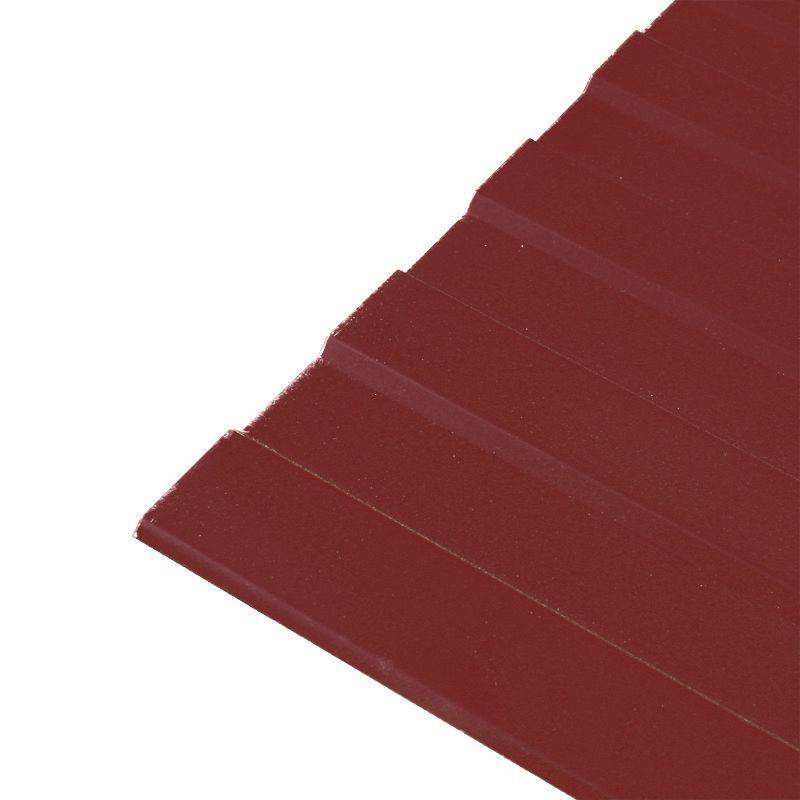Купить Профнастил С-8 1200*2000 (ПЭ-3005-0, 45 мм) красное вино, Красное вино
