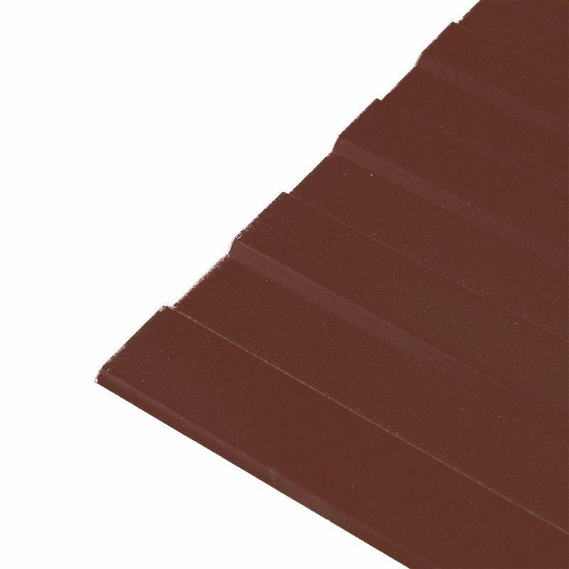 Купить Профнастил С-8 1200x2000 (ПЭ-8017-0, 45 мм) шоколад, Шоколадно-коричневый